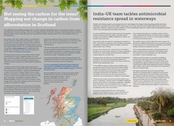 Screenshot of Hutton Highlights, October 2020 issue
