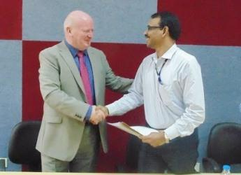 The agreement was signed at a meeting in Bengaluru, India (courtesy IISc)