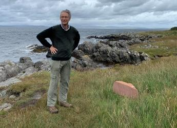 Ian Gambles, pictured at Hutton's Unconformity, is the new chair of our Board