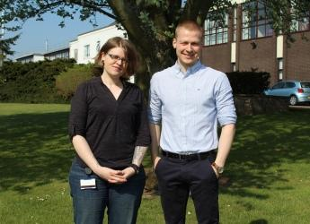 Dr Katie Baker and Dr Sebastian Eves-van den Akker (courtesy Dundee University)