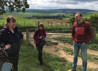 NEWBIE researchers visit farms in Aberdeenshire (c) James Hutton Institute