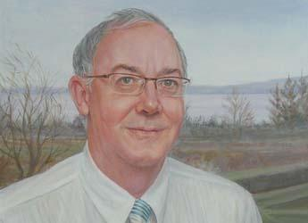 Image of Peter Gregory's portrait commissioned to mark his departure from SCRI