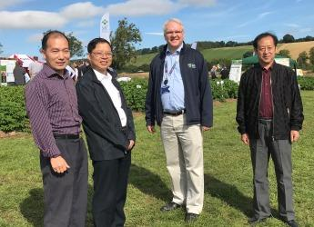 Xisen representatives at Potatoes in Practice 2017 (c) James Hutton Institute