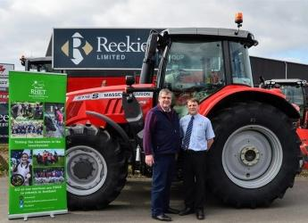 Hutton board member George Lawrie (left) is set to tour Scotland on a tractor