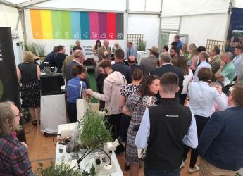 Standing room only at Hutton RHS marquee (c) James Hutton Institute