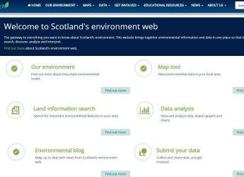 Scotland's Environment Web screenshot