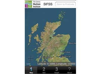 Screengrab of the SIFSS iphone app