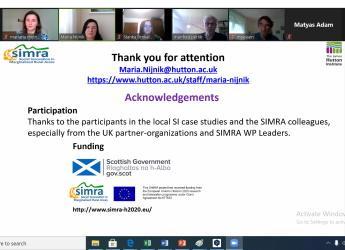 Screenshot of social innovation session during Forum Carpaticum