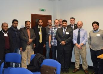 The Saudi visitors were met by researchers in Dundee (c) James Hutton Institute