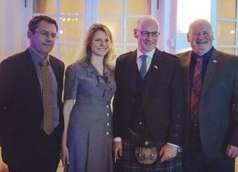 Hutton scientists with Deputy First Minister (courtesy Scot Gov)