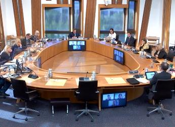 Image of committee session at Scottish Parliament