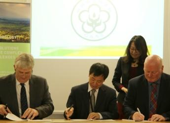 MoU signing between the three institutions (courtesy CEH)