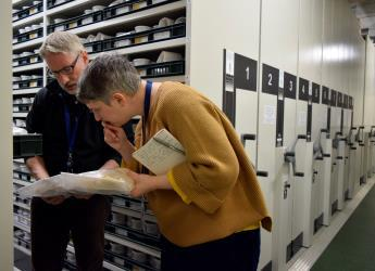 Dr Allan Lilly and Ms Ilana Halperin at National Soils Archive