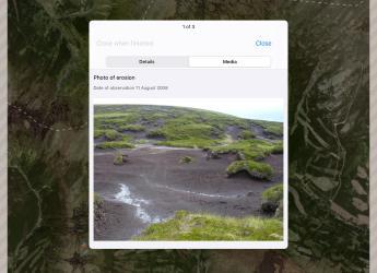Screenshot of Soil Erosion Scotland app