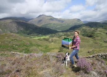 Photo of Teleri Fielden in a Snowdonia landscape (credit: Teleri Fielden)