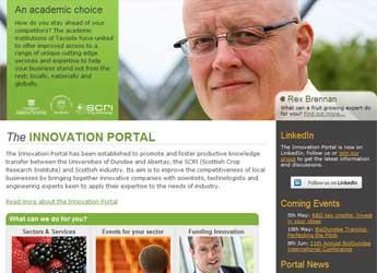 Screenshot of the Innovation Portal website
