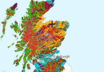 Web mapping service improved in latest update to Scottish Soils app