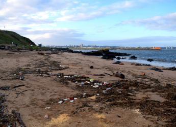 Torry beach in Aberdeen after Storm Frank in 2015. (Credit: Marine Scotland)