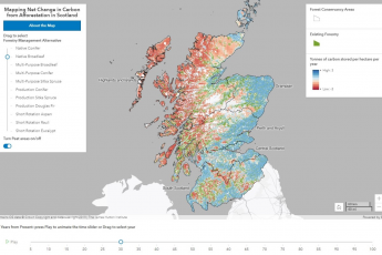 Mapping net change in carbon from afforestation in Scotland