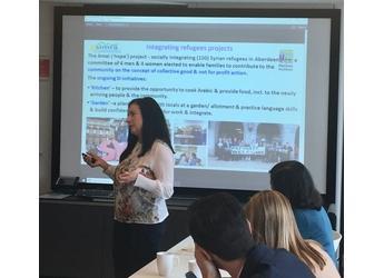 SIMRA Project Coordinator Maria Nijnik, Scotland House, Brussels, June 2018