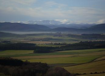 Image showing the view towards the Cairngorms from the Queen's View in Tarland,