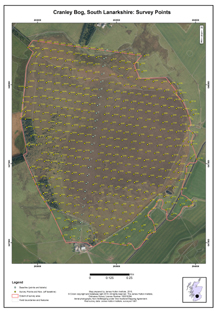 Cranley Bog: Scottish Peat Survey sites, Scottish Peat Committee and Macaulay Institute for Soil Research