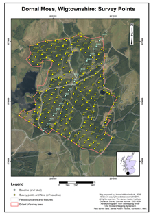Dornal Bog: Scottish Peat Survey sites, Scottish Peat Committee and Macaulay Institute for Soil Research