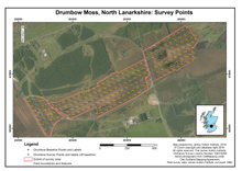 Drumbow Moss, North Lanarkshire: Survey Points; Scottish peat survey sites: Scottish Peat Committee and Macaulay Institute (peat depth, surface and volume)