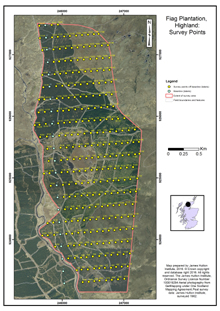 Fiag Plantation: Survey Points; Highland; Scottish peat survey sites: Scottish Peat Committee and Macaulay Institute (peat depth, surface and volume)