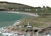 Visualization of Nigg Bay and Girdleness Lighthouse, Aberdeen