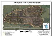 Nutberry Moss South, Dumfriesshire: Depths; 1998 survey; Macaulay Land Use Research Institute