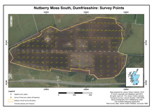 Nutberry Moss South, Dumfriesshire: Survey Points; 1998 survey; Macaulay Land Use Research Institute
