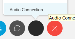 Audio Connection in the menu