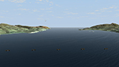 Virtual fly through of a wind and tidal turbines scheme
