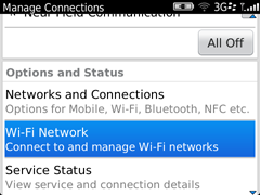 Install Eduroam on a Blackberry step three