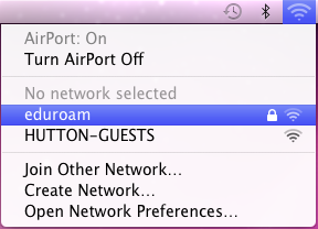 Install Eduroam on a Mac OS X computer step three