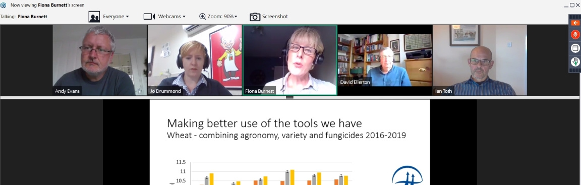 Screenshot of Arable Scotland's Plant Health Arable Conversation