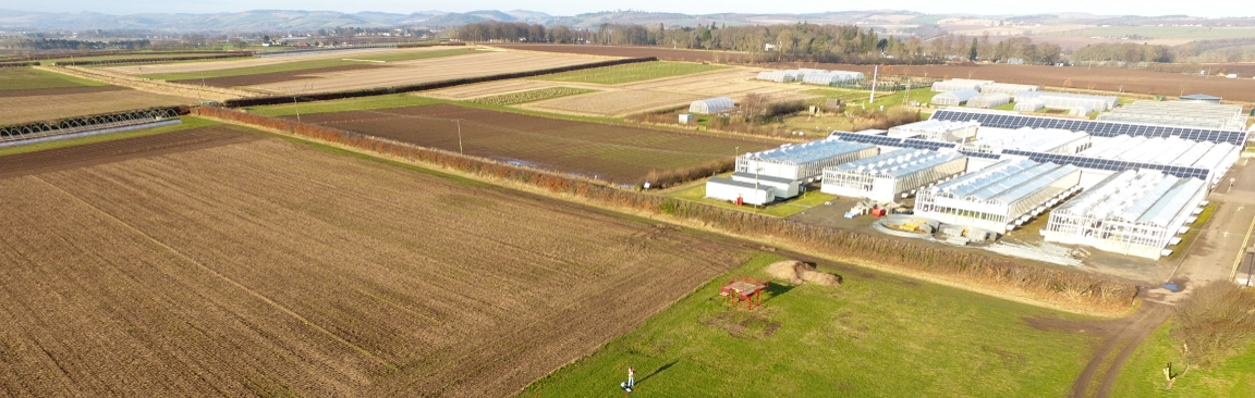 Aerial imaging can be combined with hyperspectral technology (c) Hutton