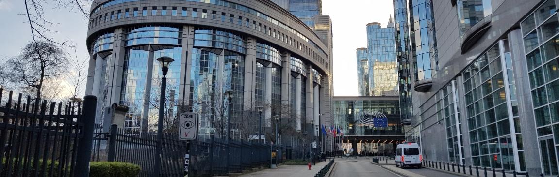 The European Parliament in Brussels, Belgium