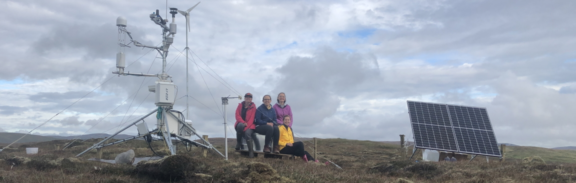 Research team at Girlsta, Shetland, with the new station