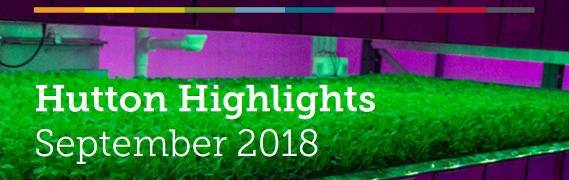 Hutton Highlights, September 2018 (c) James Hutton Institute