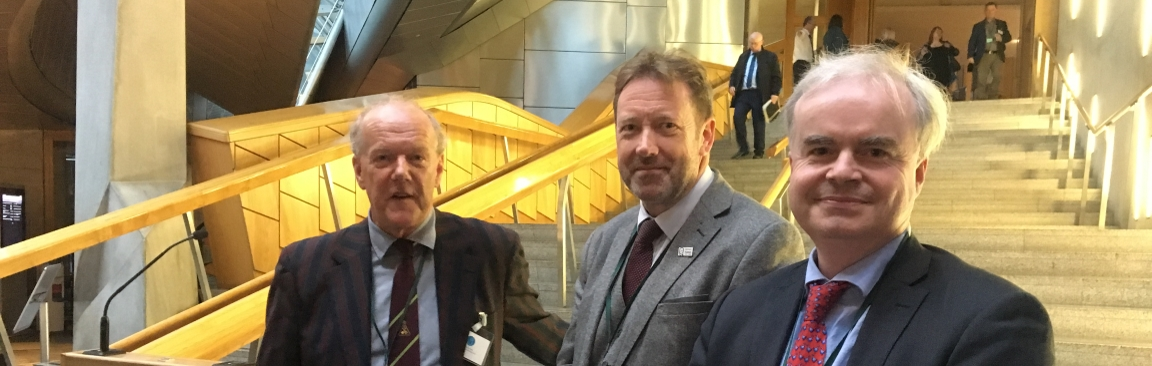 Outgoing IBH chair Colin West, Colin Campbell & interim IBH chair James Brosnan