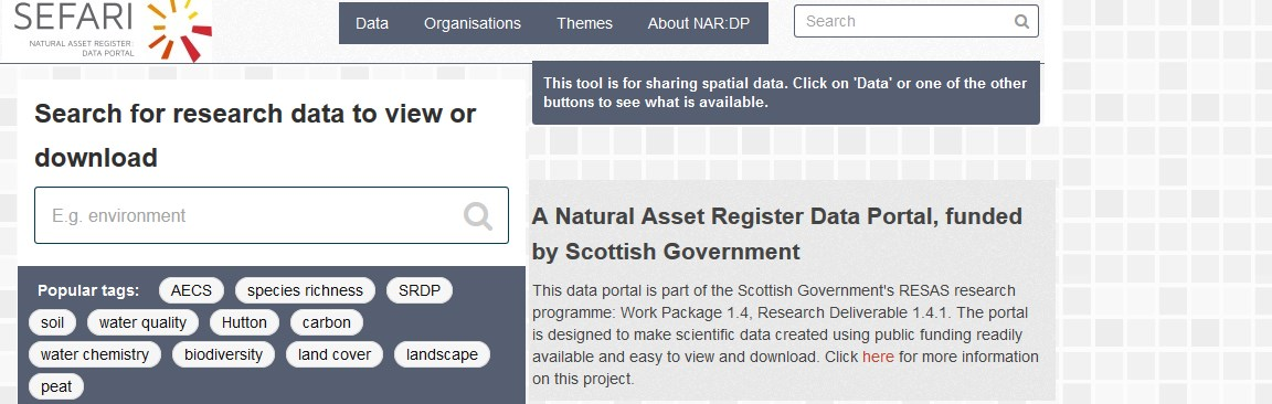 Screenshot of NAR-DP