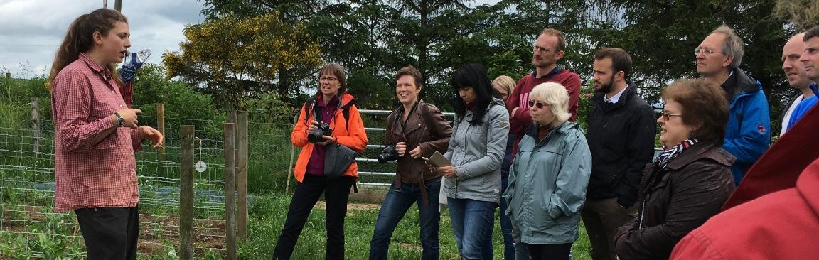 NEWBIE researchers visit farms in Aberdeenshire (c) James Hutton Institute