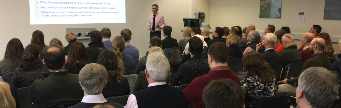 Jonnie Hall (NFUS) speaks at SSCR Soft Fruit Winter Meeting 2019