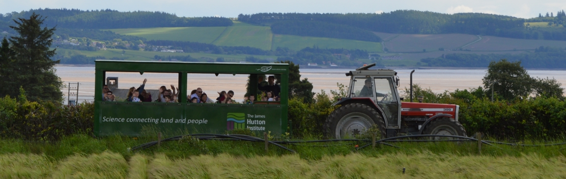 Tractor tours are always popular during Open Farm Sunday (c) James Hutton Inst
