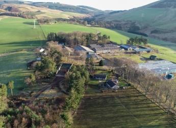 Aerial image of Glensaugh farm