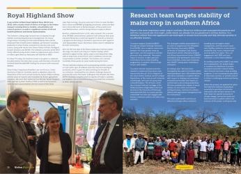 Screenshot of Hutton Highlights, September 2019 issue (c) James Hutton Institute
