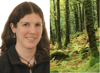 Janet Maclean and restored woodland (James Hutton Institute/SNH)