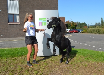 Johanna and her pony Hechizo